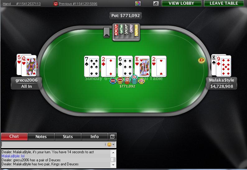 Mano de la victoria de Juan Pardo en el Sunday 6-Max de PokerStars.com.
