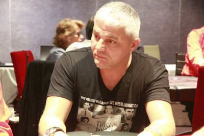Valentin Weber, chip leader del Día 1A