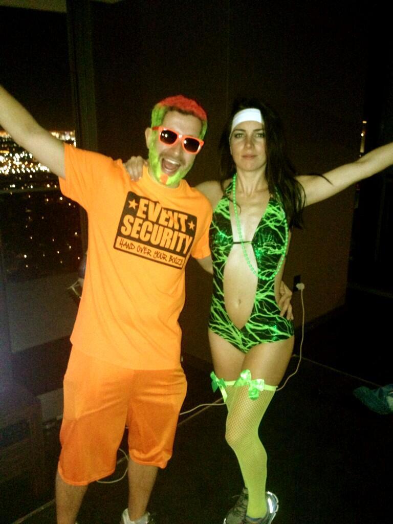 Liv Boeree, de fiesta por el Electric Daisy Carnival.