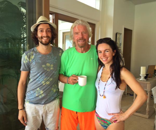 Liv, Igor y Richard Branson