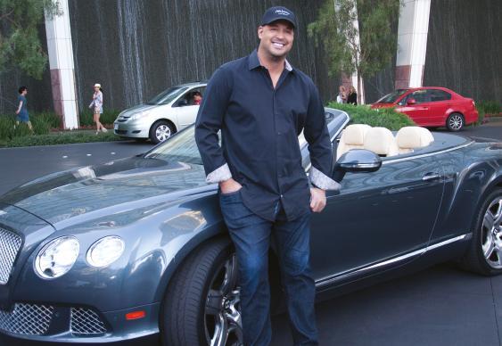 Bellande con su Bentley