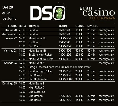 Programa del DSO Gran Casino Costa Brava.