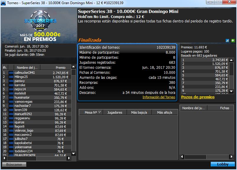 Victoria de callmuckeOMG en el SS38 de 888poker.es