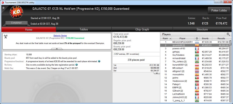 Victoria de megachipleader1 en el Galactic-07 de PokerStars.es.