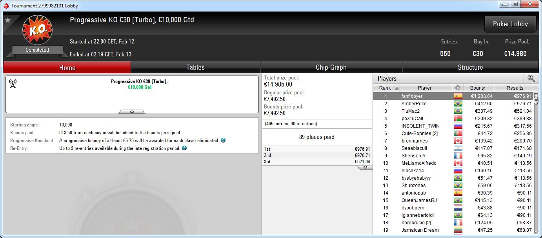 Victoria de fanfidoyer en el PKO 30€ de PokerStars .frespt
