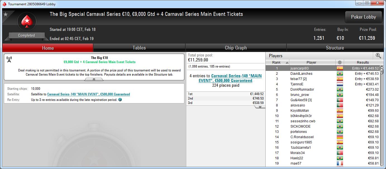 Victoria de juancarpi93 en el Big 10€ de PokerStars .frespt
