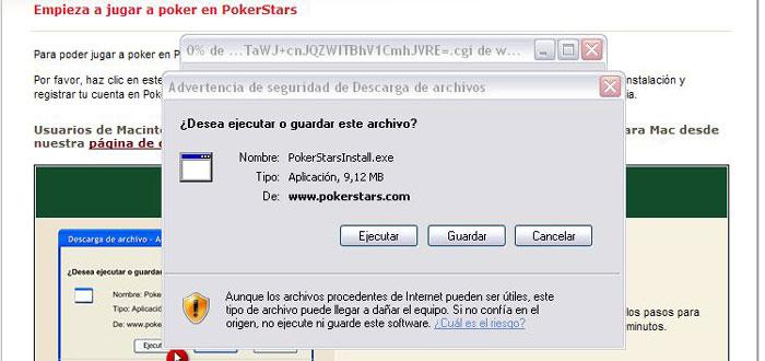 Poker online sala