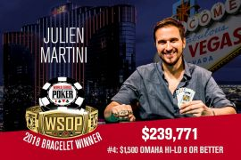 Julien Martini, WSOP 2018