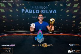 Foto del campeón, Pablo Silva. Poker Central