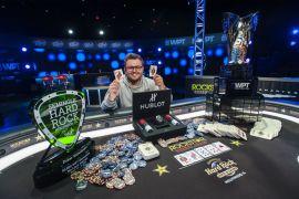 Margereson posa como campeón (Foto: WPT)