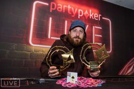 Los trofeos del doblete. partypoker