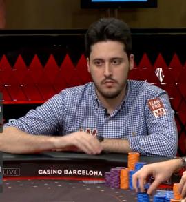 Adrián Mateos, en Casino Barcelona [PartyPoker]