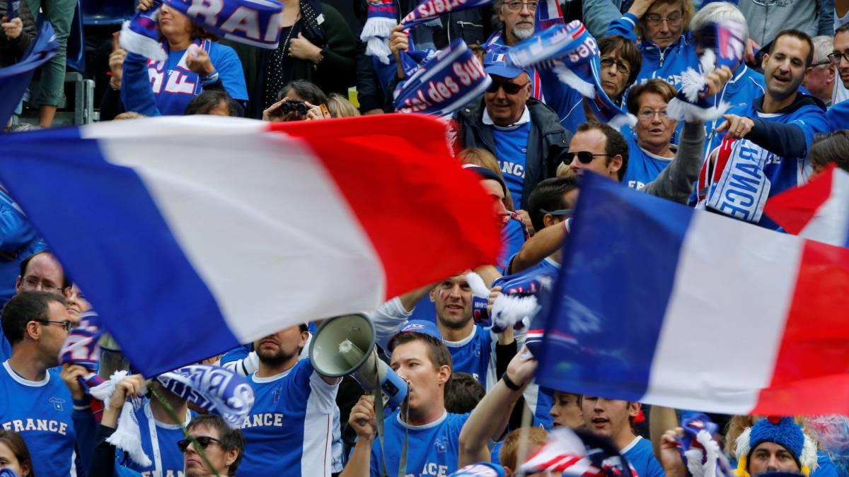 Los franceses animaron ayer a su selección