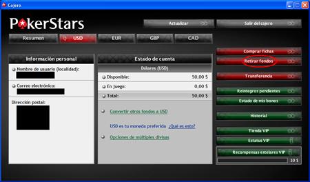 Imagen del cajero de PokerStars