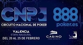 Casino Cirsa Valencia organiza la etapa del CNP888