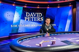 David Peters en el Aria [Foto: PokerNews]