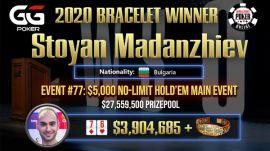 Madanzhiev, campeón del ME de las WSOP 2020