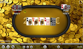 La mano final del Expresso del jackpot