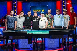 Los Final 9 del ME de las WSOP [Foto: PokerNews]