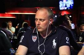 El chip leader, Jakob Brekken