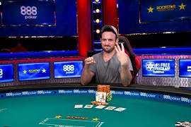 Joe Cada, ganador del Event Shootout [WSOP]