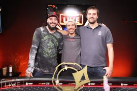 Ruberto, Fish y Black (Foto: Pokernews)