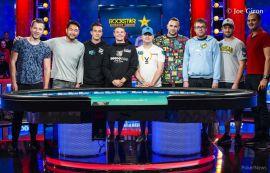 Los integrantes de la mesa final del ME (WSOP)