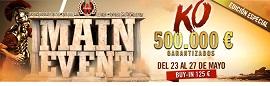 573.420 euros repartirá en premios el Main Event