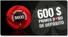 pokerstars da 100 hasta 600 tu primer deposito