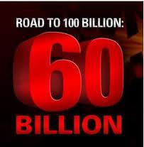 Logo de la mano sesenta mil millones