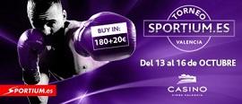 Llega el Torneo Sportium al Casino Cirsa Valencia