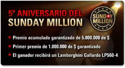 5.º Aniversario del Sunday Million