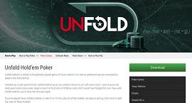 La página de Unfold Hold'em en la web de PS