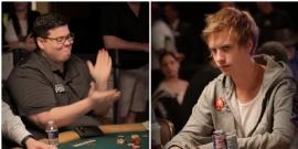 Widmann y Blom, amiguetes [Fotos: PokerListings]