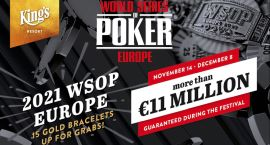 WSOPE 2021, con 11M€ garantizados
